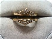 Lady's Gold-Diamond Ring Guard 14 Diamonds .42 Carat T.W. 14K Yellow Gold 4.6g